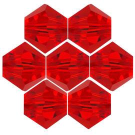Kristallperle Bicone Ø 6mm Rot VE72