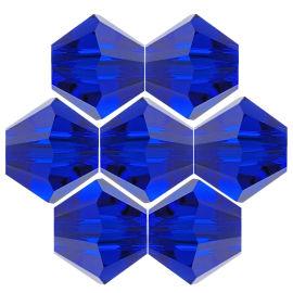 Kristallperle Bicone Ø 6mm Dark Saphier ~ Dunkelblau  VE72