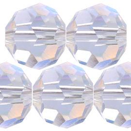 Kristall Perle Rund Ø 6mm Crystal AB VE100