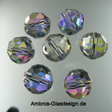 Kristall Perle Rund Ø 6mm Crystal AB VE100