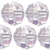 Kristall Perle Rund Ø 6mm Crystal VE 100