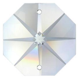 Kristall Oktagon Stern 10mm - 40mm 2 Loch Crystal K9