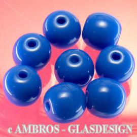 Glasperle Rund Ø 7mm Lapis ( Satt Blau ) VE 60