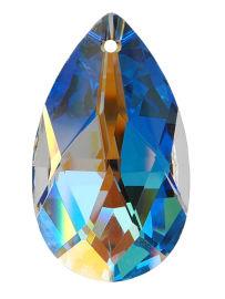 "Kristall ""Salzburger Mandel"" 38mm Crystal AB 30% PbO"