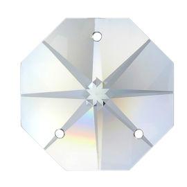 Kristall Oktagon Stern 14mm 3 Loch Crystal K9 VE35