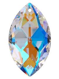 "Kristall ""Oval"" 50mm Crystal AB K9"