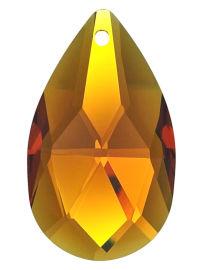 "Kristall ""Salzburger Mandel"" 38mm Topaz ~ Honig Gelb K9"
