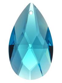"Kristall ""Salzburger Mandel"" 38mm Aquamarin ~ Türkis K9"