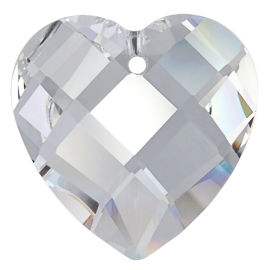 "Kristall ""Herz-Raute"" 28mm Crystal K9"