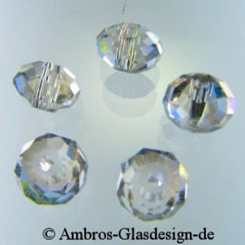 Kristallperle Rondelle 4*6mm Crystal AB~Klar VE100
