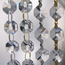 "33cm Kette ~ 16x ""Oktagon Stern"" 14mm Crystal K9"
