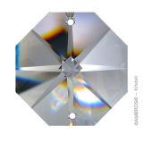 "35cm Kette ~ 15x ""Oktagon Stern"" 18mm Crystal K9 Ring 10mm Chrom"