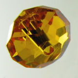 Kristallperle Rondelle 3*4mm Topaz~Gelb VE 150