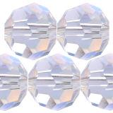 Kristall Perle Rund Ø 4mm Crystal AB VE 100