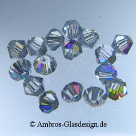 Kristallperle Bicone Ø 6mm Crystal AB VE 50