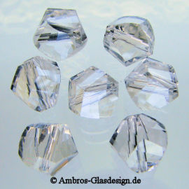 Kristallperle Twist Ø 8mm Crystal ~ Klar VE 52