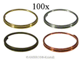 Ring Ø 10mm Messing/Chrom/Antik/Kupfer VE 100