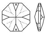 Kristall Oktagon 14mm 2 Loch Crystal 30%PbO VE62
