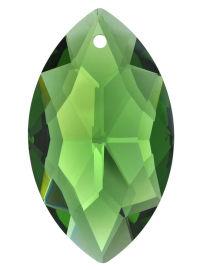 Kristall Oval 38mm Smaragd ~ Grün K9