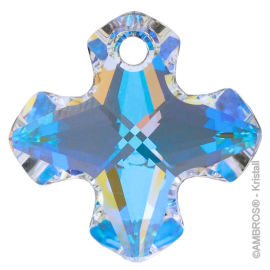 Swarovski® Crystal Greek Cross 14mm AB-A