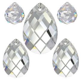 Kristall Set Raute 5tlg. 20-50mm Crystal 30% PbO