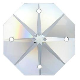 Kristall Oktagon Stern 18mm 4-Loch Crystal K9 VE35