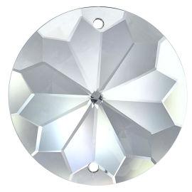 Kristall Rivoli Ø 40/45mm 2-Loch Crystal 30% PbO