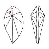 Swarovski® Crystal Leaf 40mm AB-A