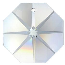Kristall Oktagon Stern 14/20mm 1 Loch Crystal K9