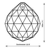 Kristall Kugel Ø 20mm Crystal 30%PbO
