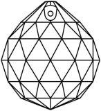 "Kristall ""Kugel"" Ø 20mm Crystal AB 30%PbO"