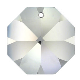 Kristall Oktagon 14mm 1-Loch Crystal 30%PbO VE62