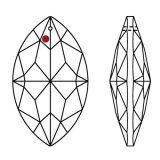 Swarovski® Crystal Oval 38mm AB-A