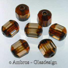 Glas Perle Antik Marmor / Schliffkranz Ø 8mm Sm. Topaz 1020 VE 30
