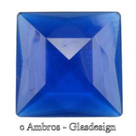 Facetten/Cabochon Kristall Steine 4eck 25*25mm Saphier ( Blau ) VE 6