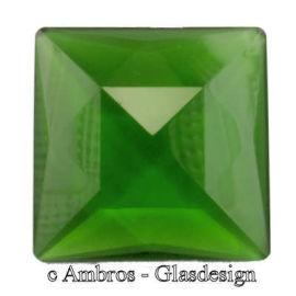 Facetten Kristall Steine 4eck 50*50mm Grün