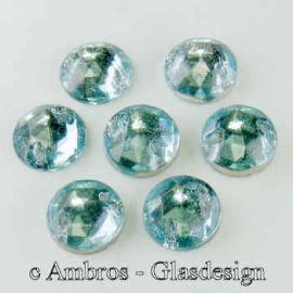 Aufnäh Kristalle Rautenrose Ø 7mm Lt.Aqua / CAL VE 12