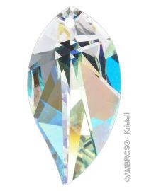 Swarovski® Crystal Leaf 28mm AB-A