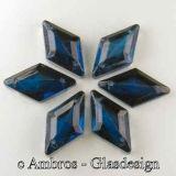 Aufnäh Kristalle Rombus 18mm Dunkel Blau / CAL VE 12