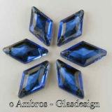Aufnäh Kristalle Rombus 18mm Blau / CAL VE 12