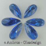 Aufnäh Kristalle Schuh 18*8mm Saphier ( Blau ) / SIM...