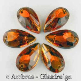 Aufnäh Kristalle Schuh 20*10mm Topaz ( Gelb ) / SIM VE 12