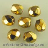 Glasschliffperle Ø 4mm Gold VE 70