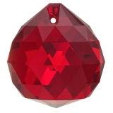 Kristall Kugel Ø 30mm Rubin ~ Rot K9