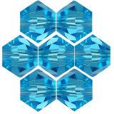 Kristallperle Bicone Ø 4mm Aquamarin ~ Türkis...