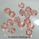 Kristallperle Bicone Ø 4mm Pink ~ Rose VE 144