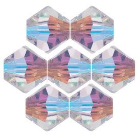 Kristallperle Bicone Ø 4mm Crystal AB VE 100