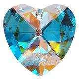 "Kristall ""Herz"" Ø 40mm Crystal AB 30%PbO"