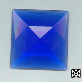 Facetten Kristall Steine 4eck 50*50mm Saphier
