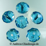 Kristallperle Rondelle 6*8mm Aquamarin VE 72